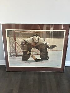 Hockey collector print from 1980's Ken Danby at the crease