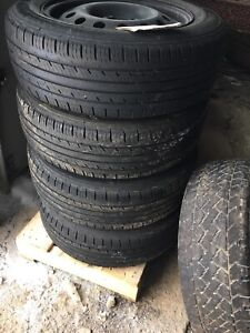 3 Sets of different tires