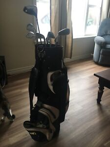 Spalding Golf Bag with clubs