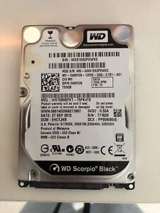 "WD Scorpio Black 2.5"" 750GB HDD"