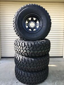Set of Brand new 33x12.5R15 muds on new black sunnies  Caboolture Caboolture Area Preview