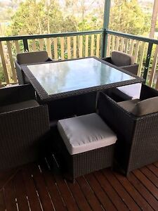 Outdoor dining setting 4-8 seater Newmarket Brisbane North West Preview