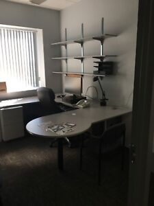 Complete office excellent condition light grey