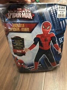 Boys Muscle Spider-Man Costume (size Medium 8-10yrs)