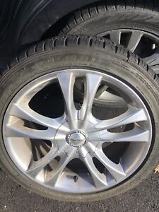 4 rims with brand new tires