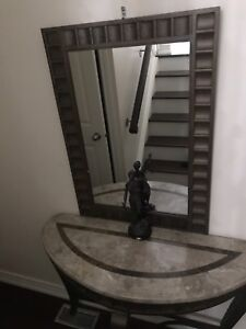 Marble hallway table with mirror
