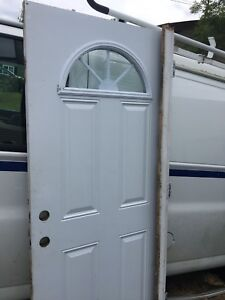 Exterior steel entry door