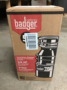 Badger Insinkerator Food Waste Disposer BRAND NEW