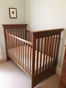 Crib, change table and dresser set