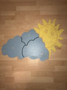 Baby Room Art Sun and Clouds