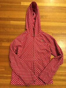 North Face polka dot girls fleece - size 10-12 yrs.
