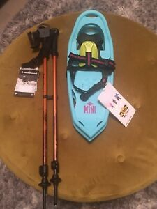 "NEW Atlas Youth Series 17"" Showshoes & Poles"