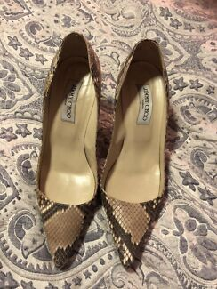 """Authentic Jimmy Choo Snake Skin High Heels """"SALE"""" $100,postage extra"""