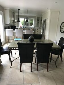 Six parson chairs  only table not included