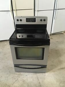 Stainless steel glass top stove