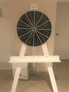 Wheel of Fortune style spinner for rent.