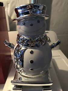 Bath and Body works Christmas Decor Snowman Candle Holder! Cute