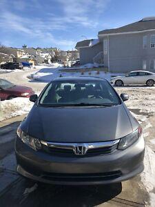 2012 Honda Civic LX at 117128 km