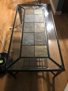 Glass and tile coffee table/end tables