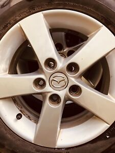 4 roues rims mags Mazda 5/114.3 x15 po