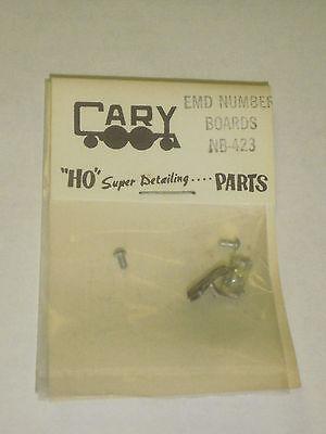 CARY HO SUPER DETAILING PARTS- NB-423 EMD NUMBER BOARDS- NEW- H50