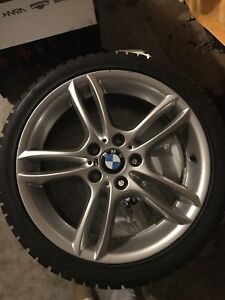 BMW 18 inch winter rims and tires 5x120