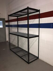 Wide span storage rack / shelving , BOLTLESS , with mesh decking