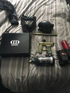 Invert paintball gun and gear