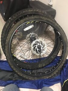 Winter studded mountain bike tires