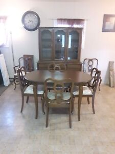 Solid wood dining set, hutch a buffet