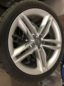 """Audi S5 19"""" rims and winter tires"""