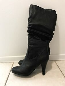 Leather Boots Size 8