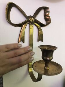 Two French brass wall sconces