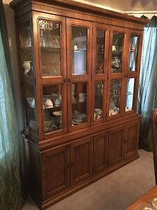 Dining Room Table and China cabinet with hutch