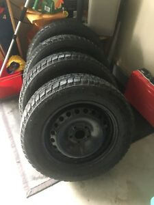 Winter Tires Blizzak with sensors and rims