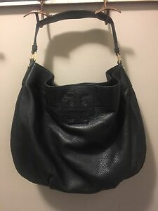 TORY BURCH STACKED T LOGO HOBO - $350 OR MAKE ME AN OFFER