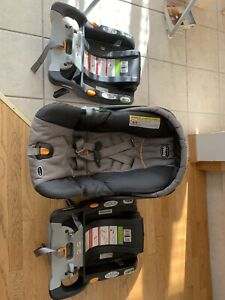 Chicco keyfit carseat with 2 bases $50