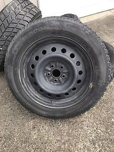 205/60/16 rims and winter tires off a Toyota