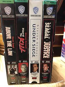 Steven Seagal VHS collection