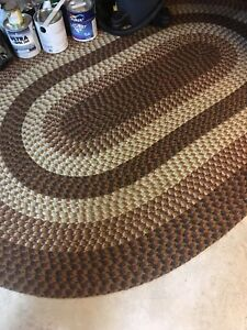 3 large Braided rugs