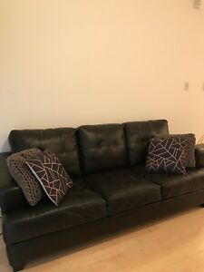 Sofa / Divan 3 places en cuir noir