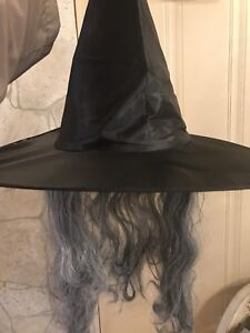 Witch hat with with hair