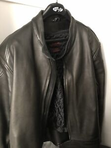 Leather Motorcycle Jacket - Mens 3XL