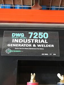 Have a brand new DWG 7250 generator/welder combo