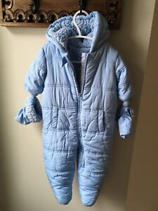 Children's Place Baby Snowsuit 6-9m with Mitts