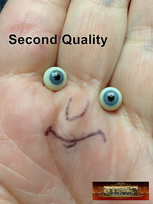 M01038 MOREZMORE SECONDS Miniature Glass Eyes 7mm GREY Small 7 mm Mini Doll A60