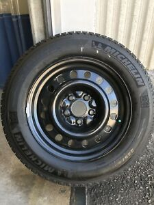 MICHELIN X-ICE WINTERS 225-65-17 ON STEEL RIMS(5x127)