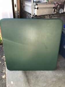 Card Table - green coloured top