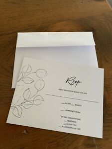 New RSVP cards and envelopes
