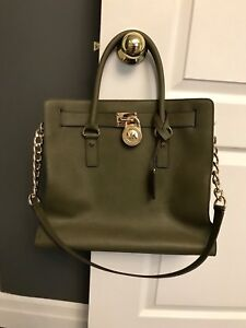 NWT Michael Kors Large Hamilton NS Tote in Olive